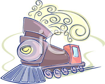 0511-1103-3012-5358_Whimsical_Train_with_Curls_of_Steam_clipart_image